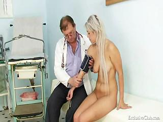 Porno Video of Teen Girl Sabina Visiting Her Old Gyno Doctor To Have Tight Pussy Examined