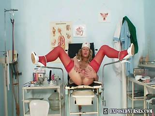Porno Video of Nasty Nurse Vanesa Pussy Showcase At Kinky Gyno Clinic
