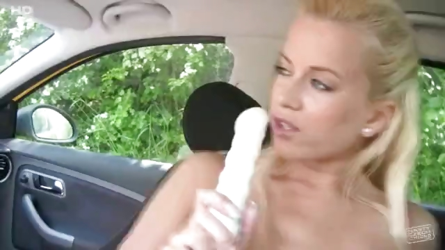 Porno Video of Busty Cindy Dollar Car Back Seat Masturbation At Public