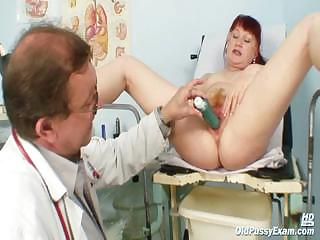 Porno Video of Mature Olga Has Her Redhead Hairy Pussy Gyno Speculum Examined By Gyno Doctor