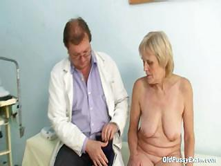 Porno Video of Mature Old Brigita Getting Pussy Exam From Experienced Gyno Doctor