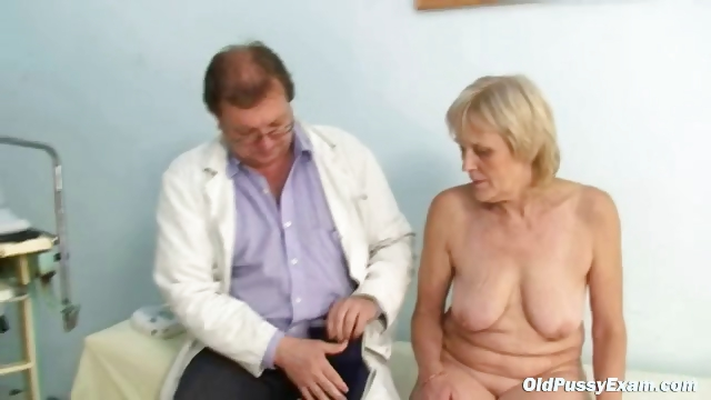 Porn Tube of Mature Old Brigita Getting Pussy Exam From Experienced Gyno Doctor