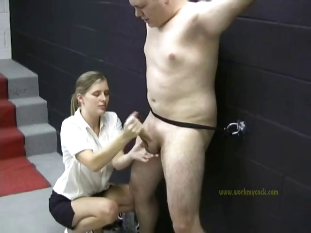 Porno Video of Bad Man Is Naked As He Is Punished By A Clothed Mistress