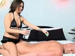Секс порно видео черный чулки анал