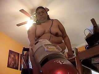 Porn Tube of Alma Smego Is A Big Lady Being Filmed Cleaning The House Naked