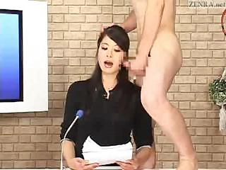 Porno Video of Japanese Newscaster Gets A Couple Of Hard Cocks And Lots Of Cum