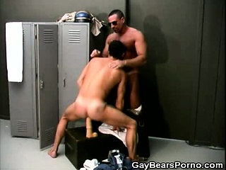 Mature Gay Bear Plays With a Dildo