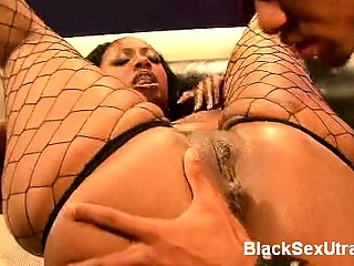 It really doesnt get any hotter than a black pornstar with a phat ass. Cherokee D Ass is easily one of the hottest ebony pornstars around. She joins us on the couch and goes to work strutting her good while taking on a cock.