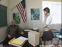 Naughty schoolgirl stays after class to earn an a | Pornstar Video Updates