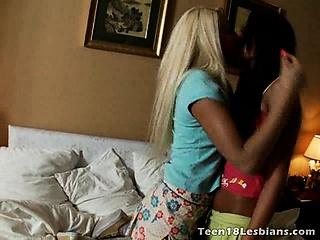 Long haired teenage lesbian angels Nicole And Megan