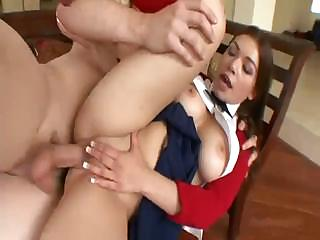 Porno Video of Cute Schoolgirl Laylah Diamond Sucks And Gets Her Ass Fucked