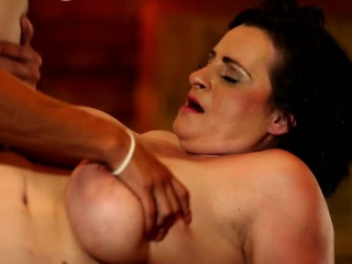 Painful and cock-controling BBW femdom action