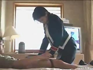 Porno Video of Cute Japanese Hotel Busgirl Gives Cock Massage.