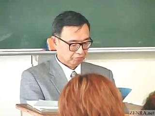 Porno Video of Japanese Couple Fucks In The Middle Of A School Classroom