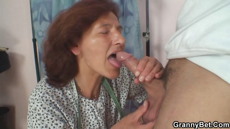 Porno Video of Sewing Granny Jumps On Fresh Cock
