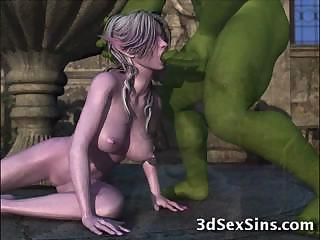 Porno Video of 3d Ogres Fuck Elf Girls!