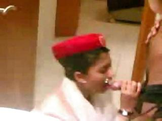 Porno Video of Arab Emirate Steward Cabin Blowjob Before The Flight
