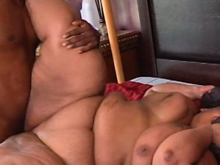 Huge fat ebony beauty gets a good fucking