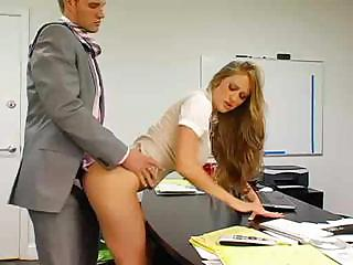 Porno Video of Busty Secretary Gets Bent Over And Fucked By Her Horny Boss