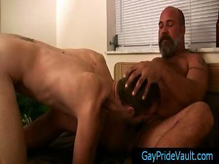 Mature bear fucks cute part6