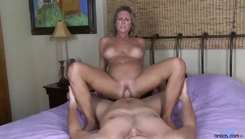 Porn Tube of Busty Cougar Hardcore Pussy Pounding