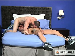 Rod tells Angel he wants to mount his fat cock and ride hard