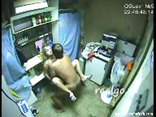 Porno Video of Hidden Cam Captures This Amateur Couple Fucking In Back Room