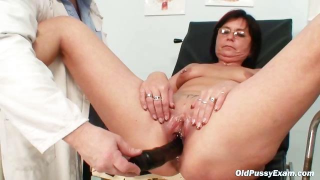 Porn Tube of Elder Pierced Pussy Woman Bizarre Pussy Exam