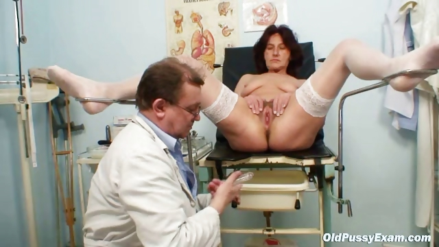 Porno Video of Hairy Pussy Grandma Visits Pervy Woman Doctor