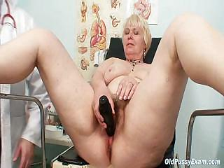 Porno Video of Chubby Blond Mama Hairy Pussy Gyn Examination