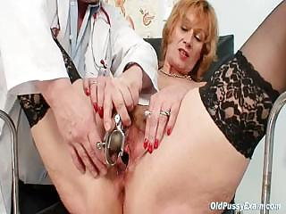 Porno Video of Redhead Granny Dirty Pussy Stretching In Gyn Clinic
