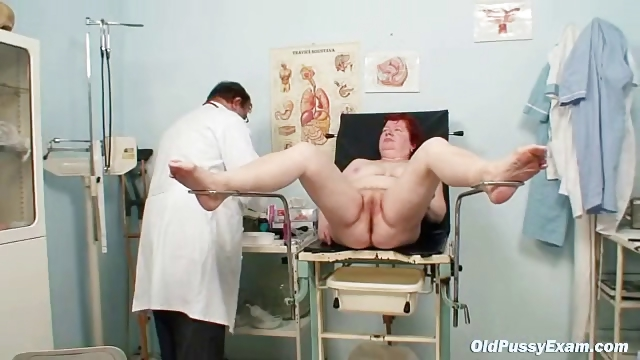 Porno Video of Aged Redhead Woman Hairy Pussy Gyno Exam