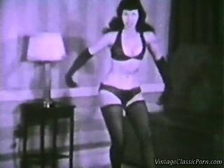 Vintage erotic dancer