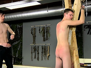 Matt whips and fucks the hot little twink ass of Aiden and