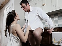 Titillating wife and husband