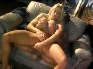 Porno Video of Busty Blonde Kim Chambers Sucks His Dick And Then Gets Fucked