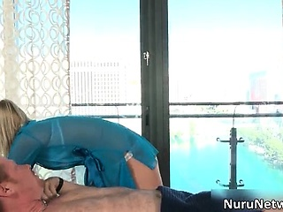 Horny guy gets great erotic massage part3