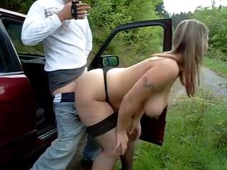 Porno Video of Dude Picks Up A Hooker To Suck His Cock And Fuck At Side Of Road