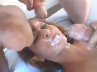 Porno Video of French Brunette Bitch Sucks And Fucks With A Dp And Gets Jizzed On