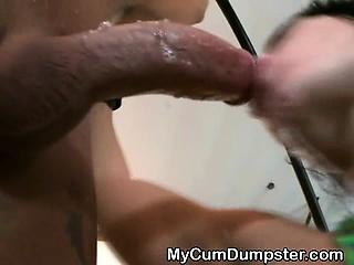 Two Girls Sharing Multiple Cumshots At BDSM Gangbang