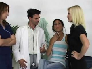Cfnm babes spanking doctor