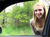 Blonde Beatrix hitch a car gets fucked