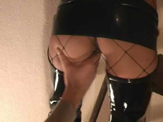 Lovely German Couple In Hot Latex Fetish Action