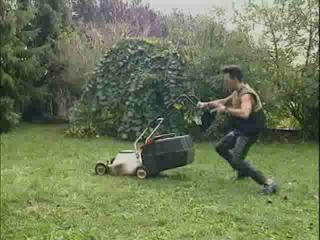 Kirsten Halborg And A Lawnmower