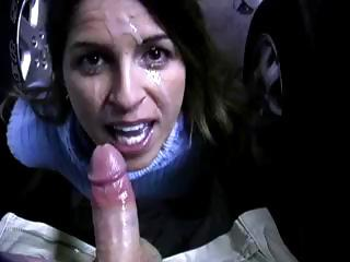 Porno Video of Brunette Gives A Blowjob In The Parking Lot And Gets Messy Facial