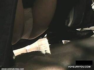 Low Angle Pretty Teen Panties