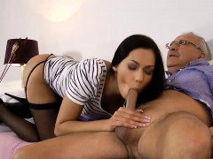 Teen pussy slammed by old guy