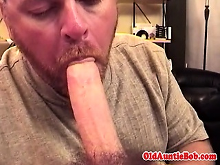 Mature bear pov sucking thick big dick