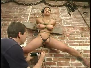 Porn Tube of Brunette Loni Is Tied Up And At The Whim Of Her Bdsm Master