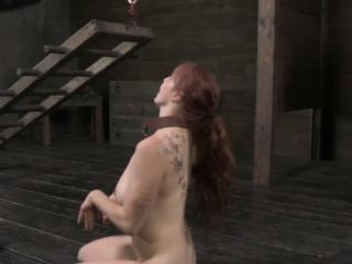 BDSM bondage sub Bella Rossi puppy play with dominators